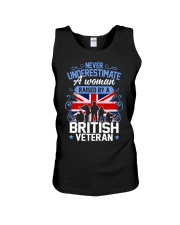 A Woman Raised By A British Veteran Unisex Tank thumbnail