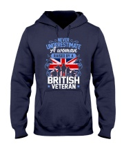 A Woman Raised By A British Veteran Hooded Sweatshirt thumbnail