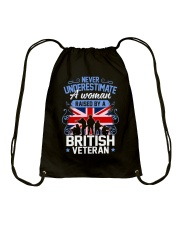 A Woman Raised By A British Veteran Drawstring Bag thumbnail