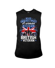 A Woman Raised By A British Veteran Sleeveless Tee thumbnail