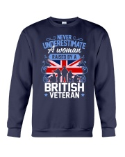 A Woman Raised By A British Veteran Crewneck Sweatshirt thumbnail