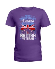 A Woman Raised By A British Veteran Ladies T-Shirt thumbnail