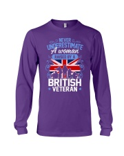 A Woman Raised By A British Veteran Long Sleeve Tee thumbnail