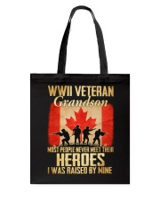 WWII Veteran Grandson Tote Bag thumbnail