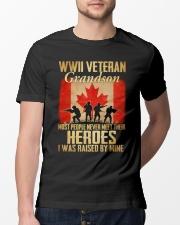 WWII Veteran Grandson Classic T-Shirt lifestyle-mens-crewneck-front-13
