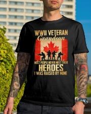 WWII Veteran Grandson Classic T-Shirt lifestyle-mens-crewneck-front-8