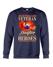 I Was Raised-Australian Veteran Crewneck Sweatshirt thumbnail