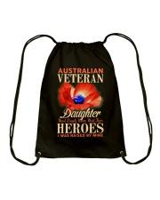 I Was Raised-Australian Veteran Drawstring Bag thumbnail