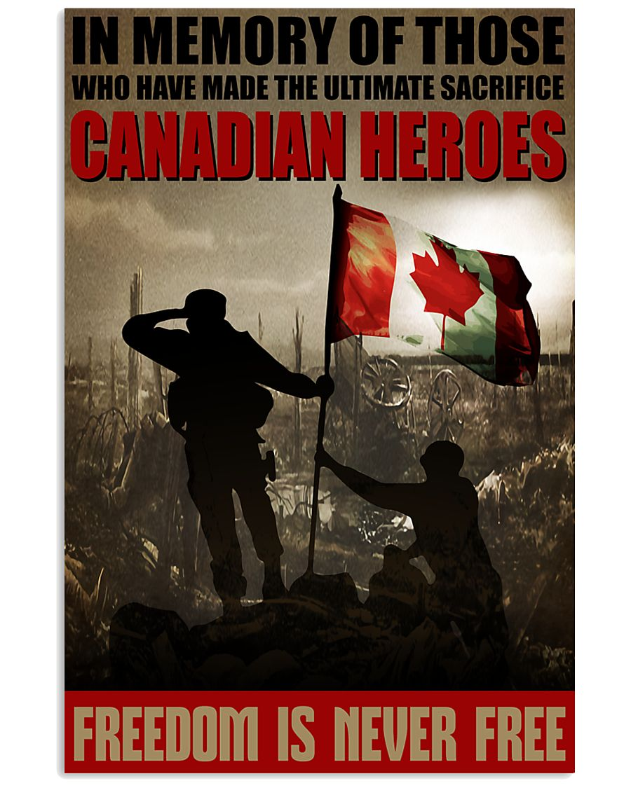 Canadian Heroes 16x24 Poster