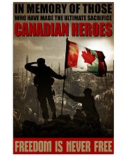 Canadian Heroes 16x24 Poster front