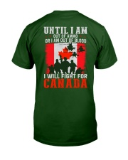 Fight For Canada Classic T-Shirt back