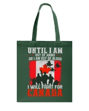 Fight For Canada Tote Bag thumbnail