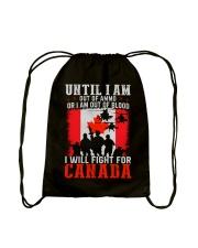 Fight For Canada Drawstring Bag thumbnail