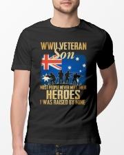 WWII Veteran Son Classic T-Shirt lifestyle-mens-crewneck-front-13