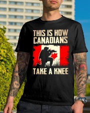 Canadians Take A Knee Classic T-Shirt lifestyle-mens-crewneck-front-8