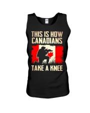 Canadians Take A Knee Unisex Tank thumbnail