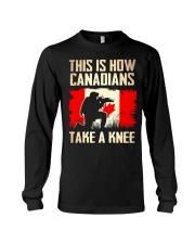Canadians Take A Knee Long Sleeve Tee thumbnail