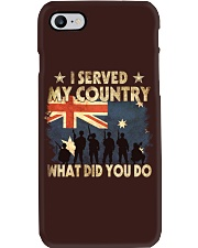 Served My Country Phone Case thumbnail