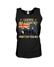 Served My Country Unisex Tank thumbnail