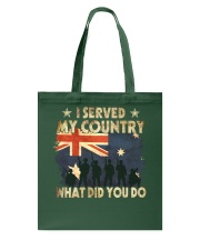 Served My Country Tote Bag thumbnail