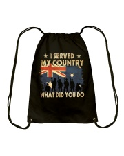 Served My Country Drawstring Bag thumbnail
