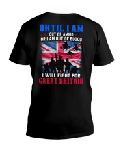 Fight For GB V-Neck T-Shirt thumbnail