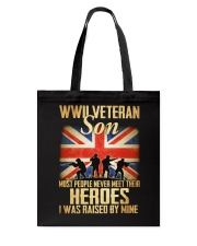 WWII Veteran Son Tote Bag thumbnail