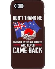 AU Veteran-Don't Thank  Phone Case thumbnail
