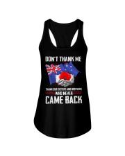 AU Veteran-Don't Thank  Ladies Flowy Tank thumbnail