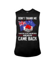 AU Veteran-Don't Thank  Sleeveless Tee thumbnail