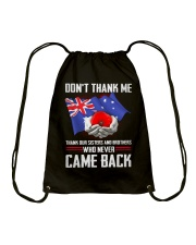 AU Veteran-Don't Thank  Drawstring Bag thumbnail