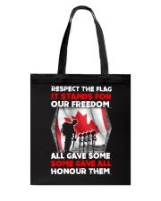 Respect The Flag Tote Bag thumbnail