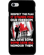 Respect The Flag Phone Case thumbnail