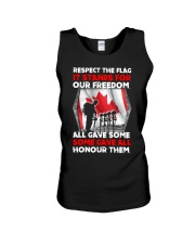 Respect The Flag Unisex Tank thumbnail