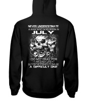 NEVER UNDERESTIMATE - A JULY MAN Hooded Sweatshirt thumbnail