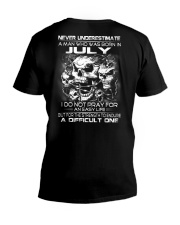 NEVER UNDERESTIMATE - A JULY MAN V-Neck T-Shirt thumbnail