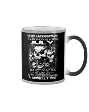 NEVER UNDERESTIMATE - A JULY MAN Color Changing Mug thumbnail