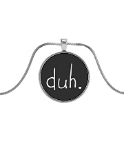 duh jewelry - Billie Eilish Bad Guy Metallic Circle Necklace front
