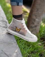 Butterfly shoes  Women's High Top White Shoes aos-complex-women-white-top-shoes-lifestyle-02