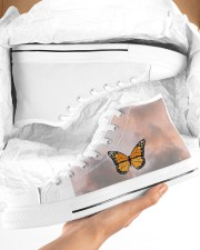 Butterfly shoes  Women's High Top White Shoes aos-complex-women-white-top-shoes-lifestyle-09