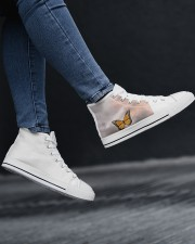 Butterfly shoes  Women's High Top White Shoes aos-complex-women-white-top-shoes-lifestyle-15
