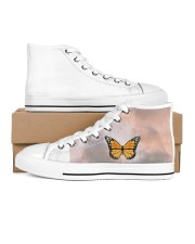 Butterfly shoes  Women's High Top White Shoes inside-left-outside-left