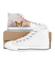 Butterfly shoes  Women's High Top White Shoes outside-right-inside-right