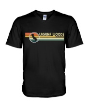 California Vintage  Style LAGUNA WOODS CA V-Neck T-Shirt thumbnail