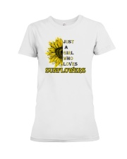 just a girl who loves sunflowers  Premium Fit Ladies Tee thumbnail