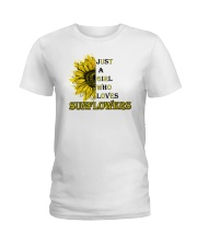 just a girl who loves sunflowers  Ladies T-Shirt front