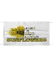 just a girl who loves sunflowers  Cloth face mask thumbnail