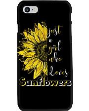 just a girl who loves sunflowers Phone Case thumbnail