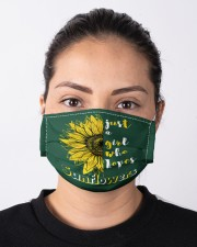 just a girl who loves sunflowers Cloth face mask aos-face-mask-lifestyle-01