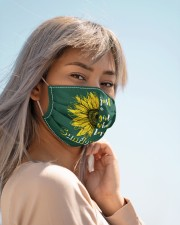 just a girl who loves sunflowers Cloth face mask aos-face-mask-lifestyle-19